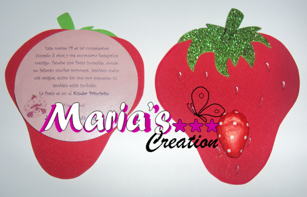 Manualidades Maria's Creation: Frutillita