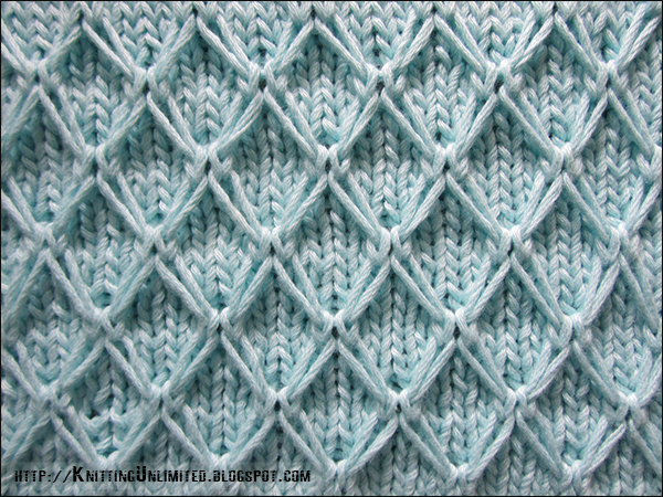 English Diamond Quilting Stitch - Knitting Unlimited