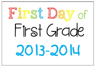 FREE PDF Printable First Day of School Photo