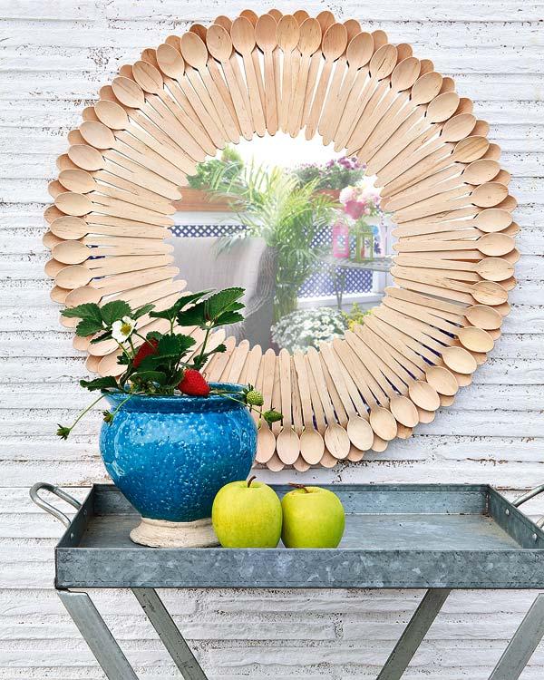 DIY- marco de espejo cucharas, manualidades