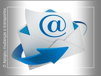 Orçamento com empresa de mudança e transporte - Contato por e-mail