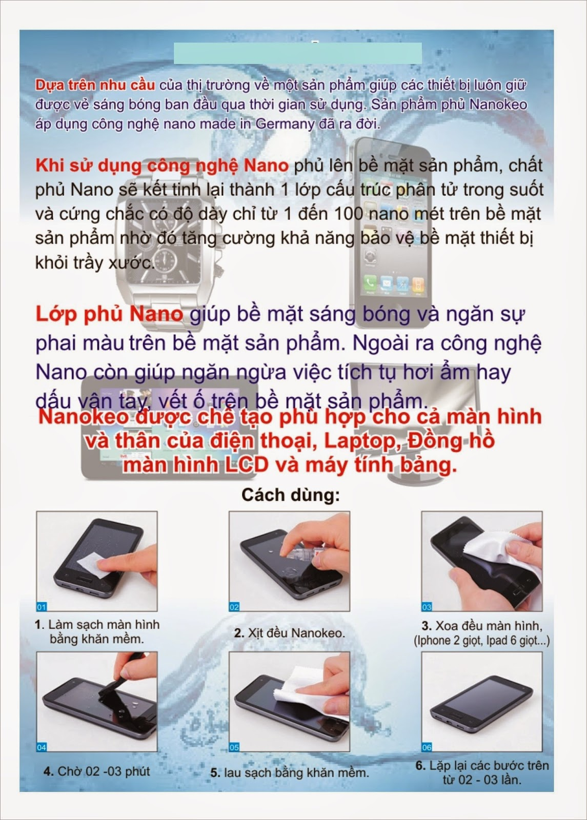 phủ nano iphone