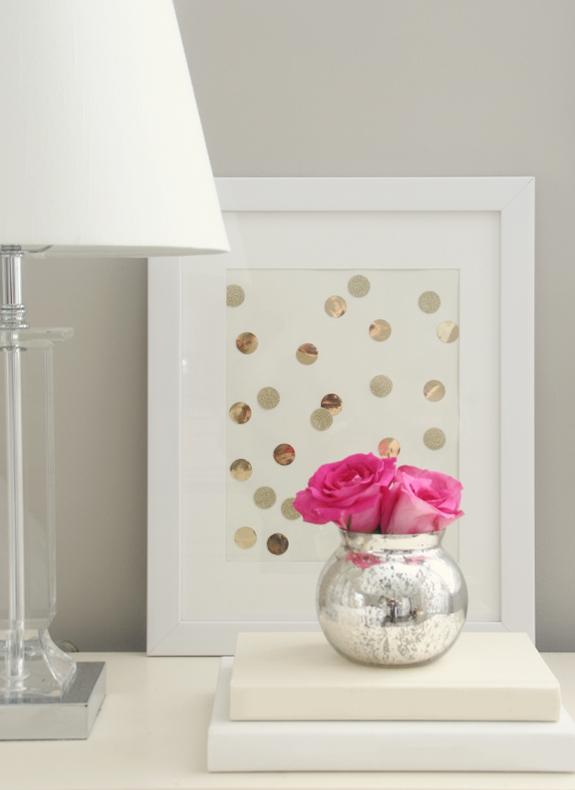 gold polka dot confetti print