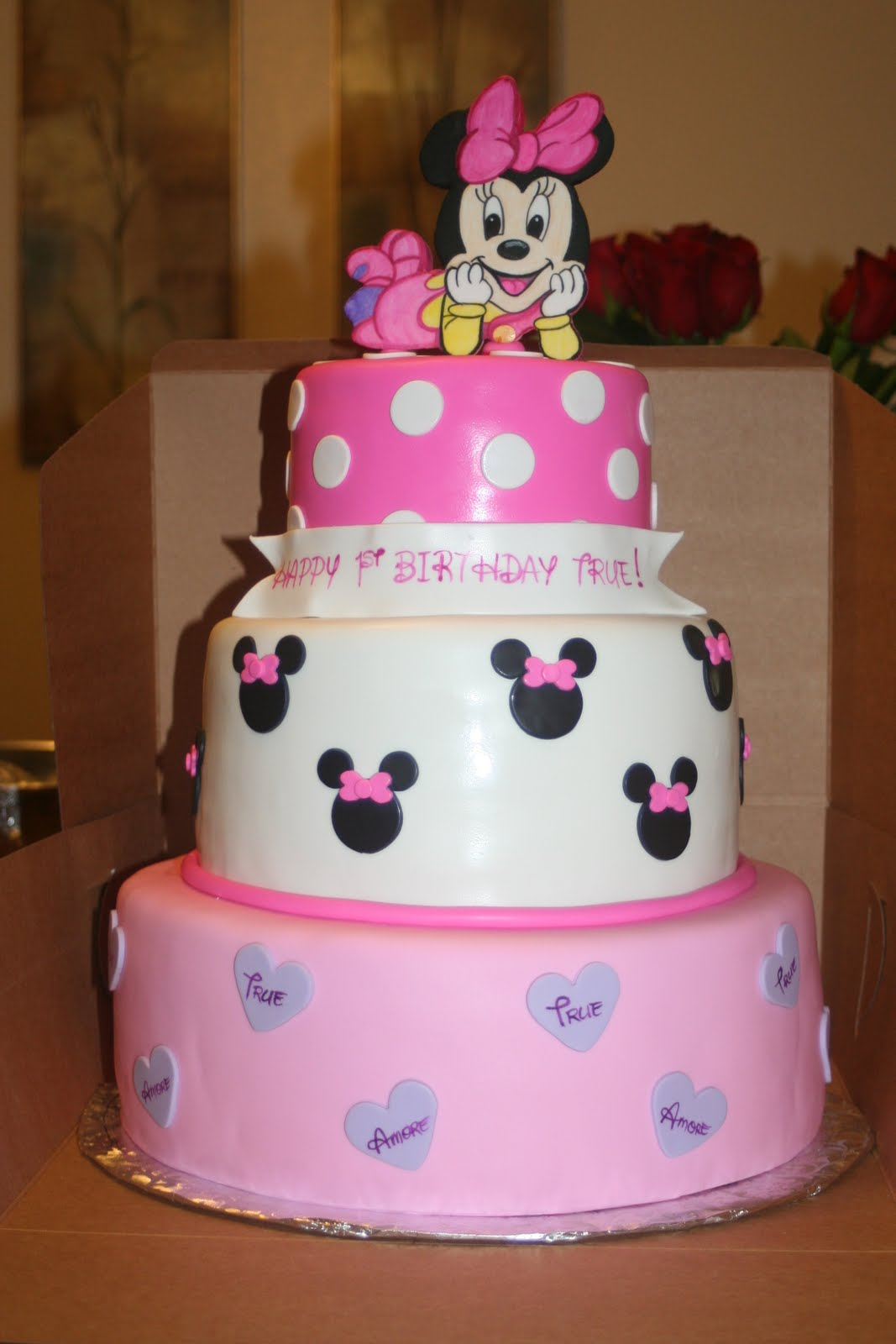Pictures Of Birthday Cakes For Baby S First Birthday : Tara s Piece of Cake: Baby Minnie 1st Birthday