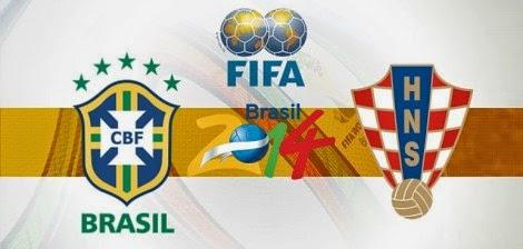 مباراة البرازيل وكرواتيا اليوم افتتاح نهائيات كأس العالم لكرة القدم 12/6/2014