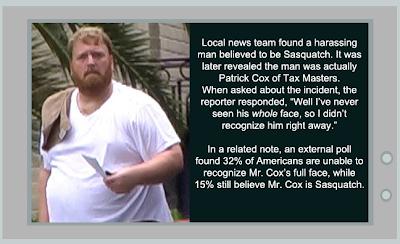 TaxMasters Patrick Cox is Sasquatch