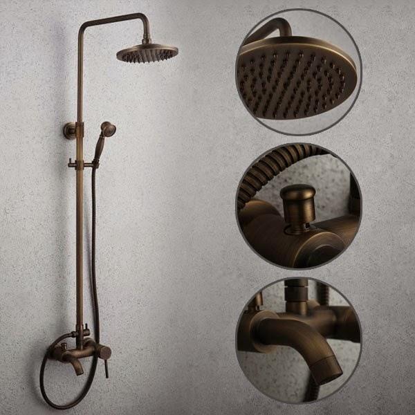 antique brass tub shower faucet ideas