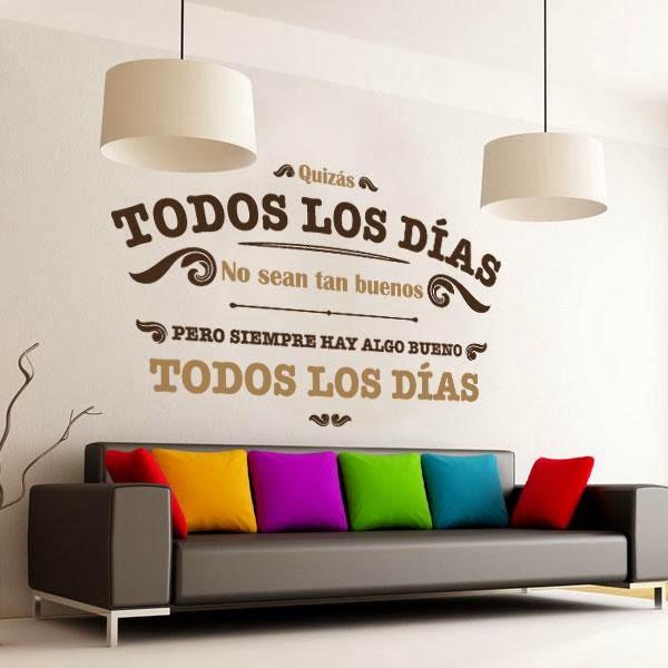 Maymakeupp las paredes tienen vida y eso depende de ti - Vinilos decorativos frases ...