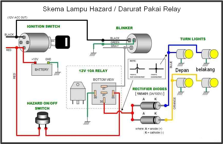 Solusi Battery  Koleksi Skema Lampu Darurat Hazard