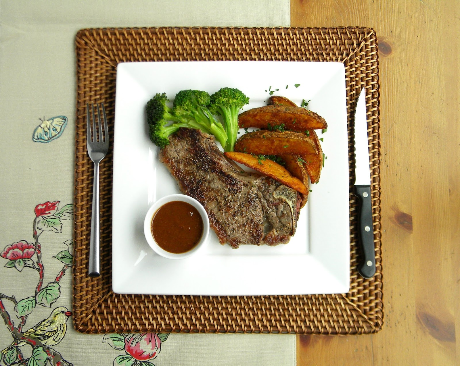 Seared Cowboy Steaks With Guinness Sauce Recipe — Dishmaps
