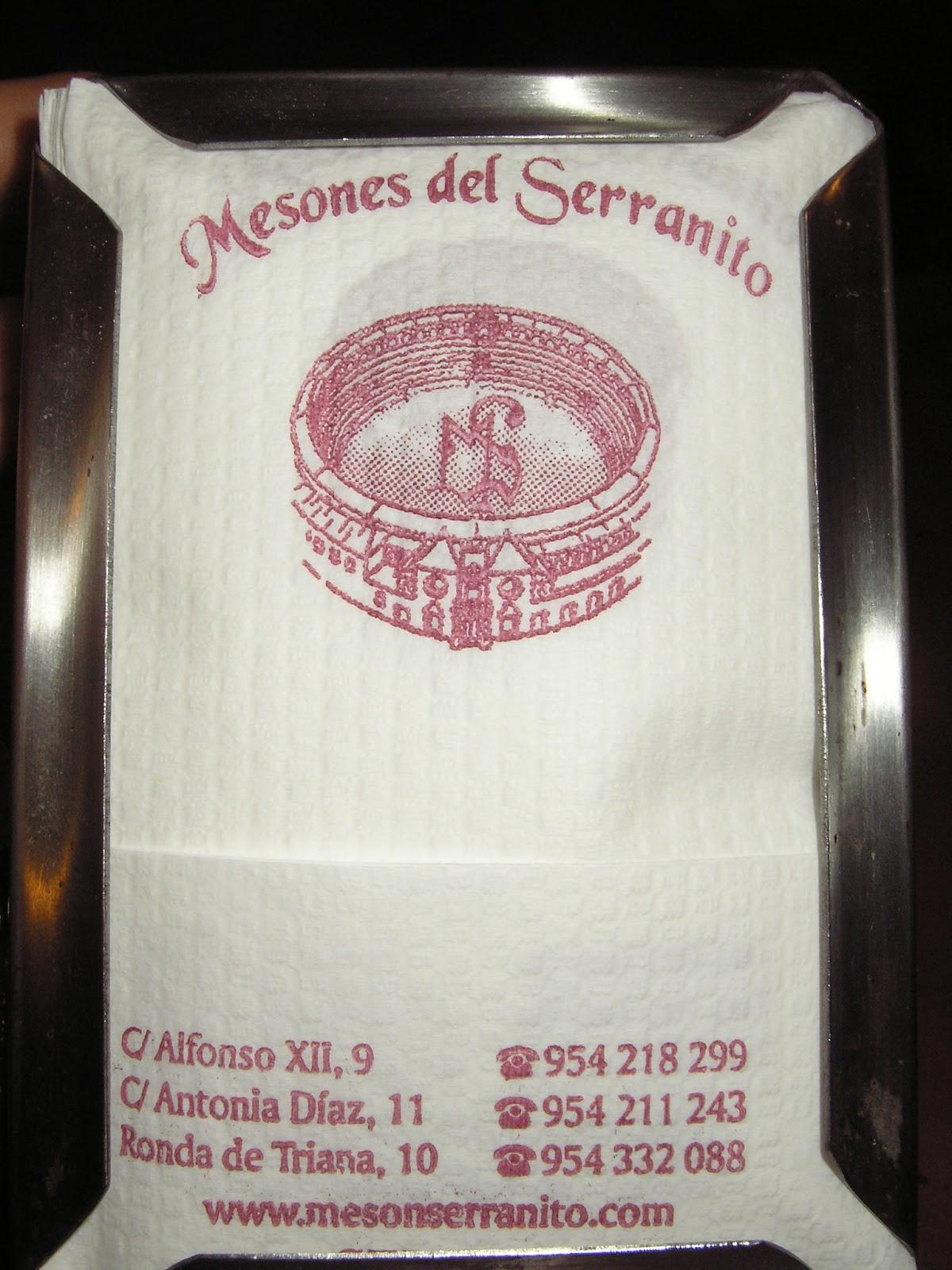 Datos Mesón Serranito, Serranito Advisor