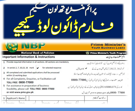 PM Youth Small Business Loan Application Form Scheme NBP