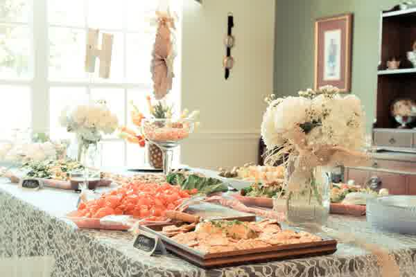Rustic deal bridal shower table decoration wedding for Ideas for bridal shower table decorations