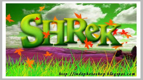 Indophotoshop- Teks Efek Shrek