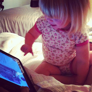Toddler on ipad