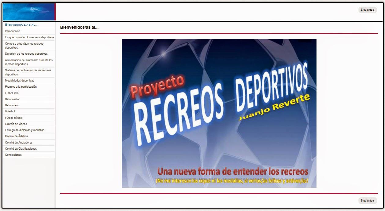 RECREOS DEPORTIVOS DE JUANJO REVERTE