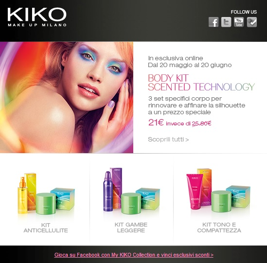 KIKO - Body Kit Scented Technology a 21€