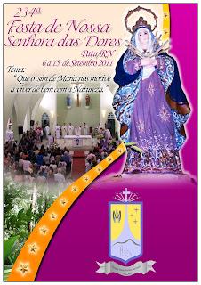Paróquia Divulga a Programação da 234ª Festa de Nossa Senhora das Dores - 2011