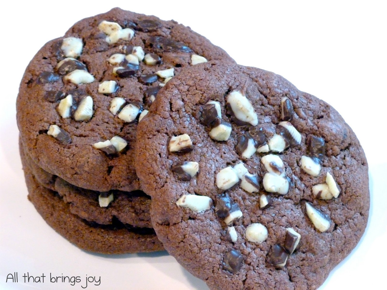 Chocolate Cookies With Andes Mints In The Middle