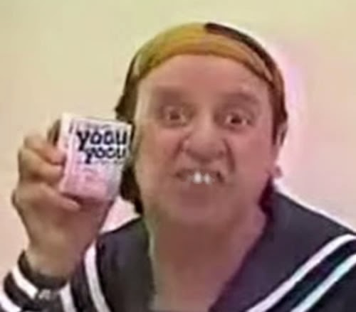 Propaganda de 1988 com Kiko para promover o iogurte Yogu Yogu.