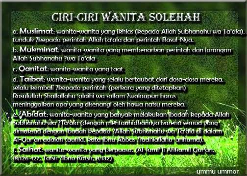 Ciri-Ciri Wanita Solehah