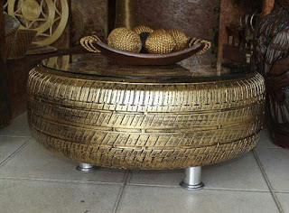 Golden Tire Coffee Table