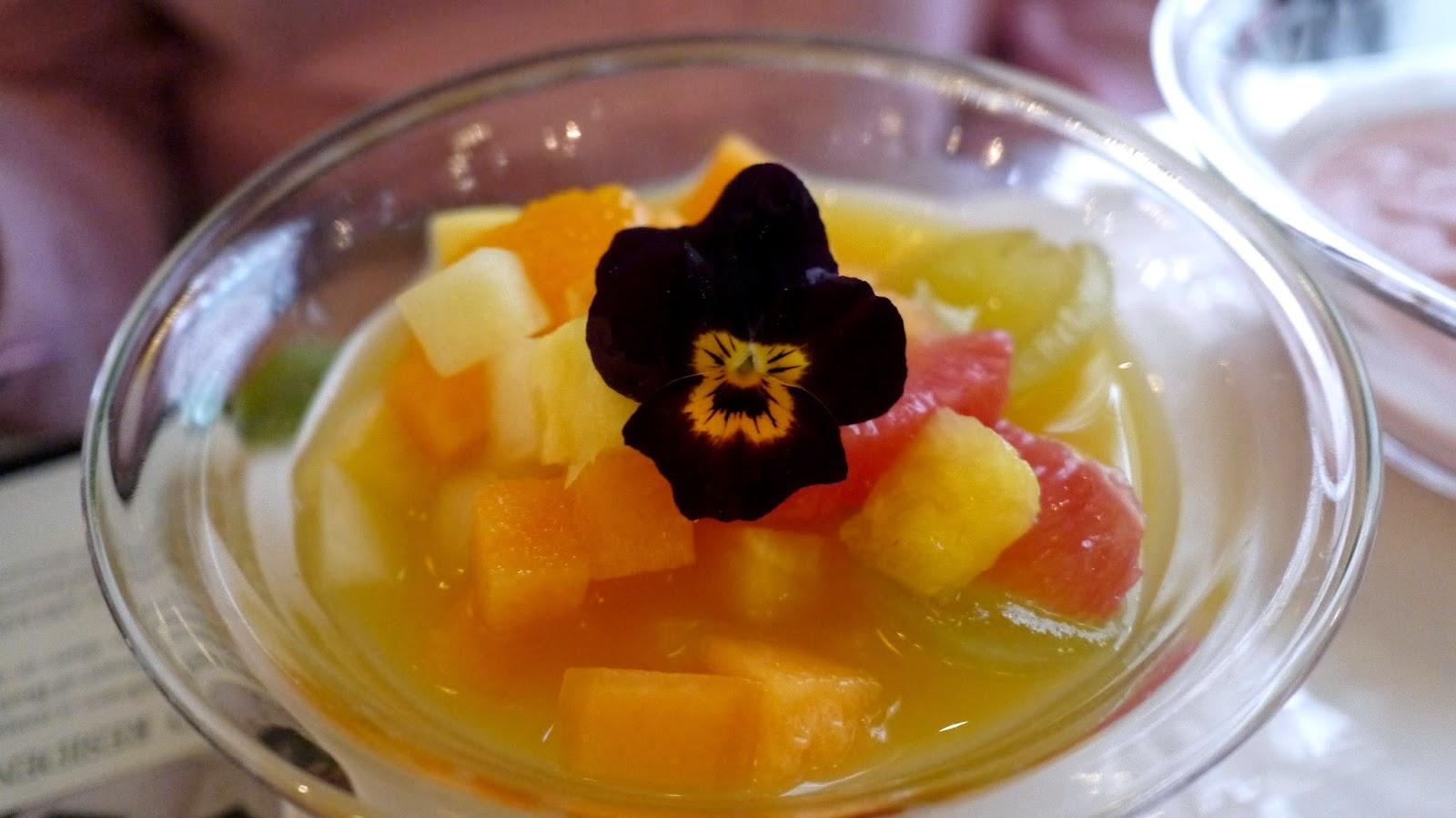 New York Cafe Budapest fruit salad