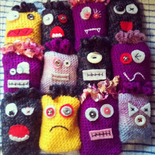 FiveGoBlogging Crochet Monsters amigurumi