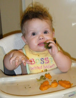 Sasha with Veggies