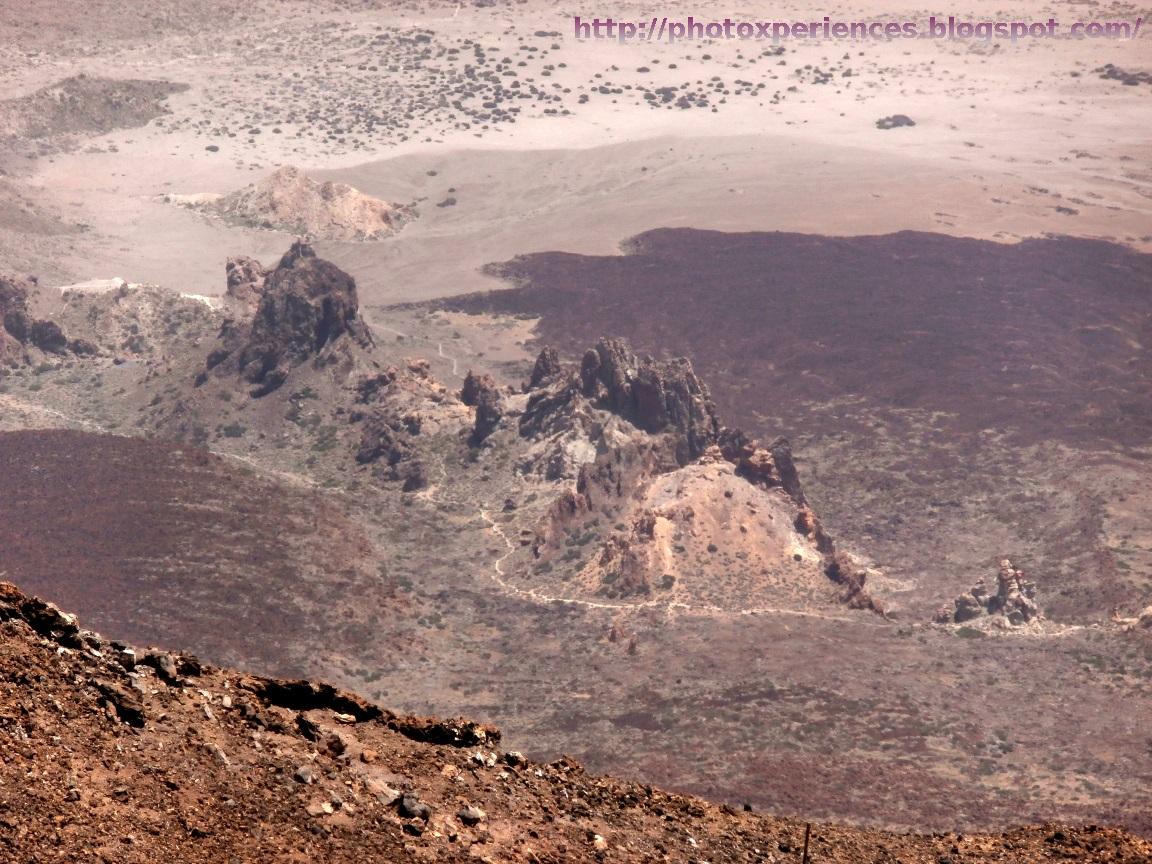 Los Roques de García vistos desde la cima del Teide
