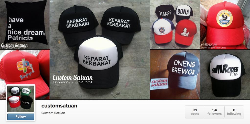Jasa Pembuatan Topi Custom Design Bebas