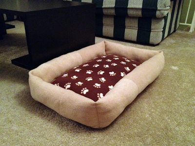 how to make a fleece pet bed