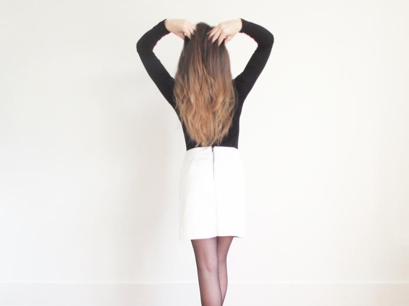 Glamorous White Leather Skirt