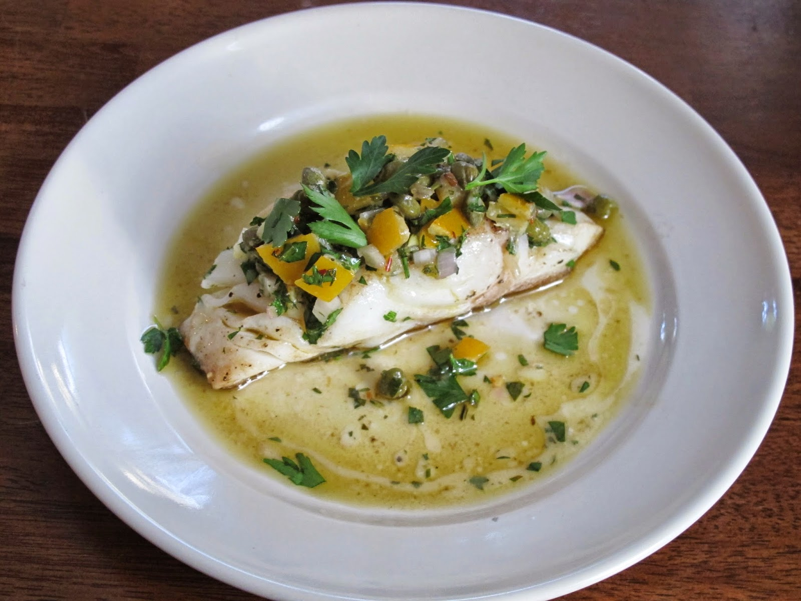 Sprouted Kitchen Cod with Lemon Caper Relish