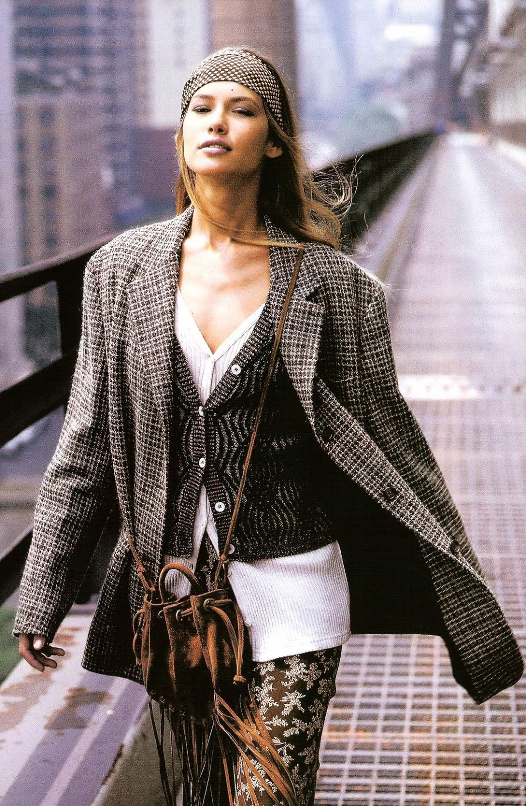 Valeria Mazza in Elle US October 1993