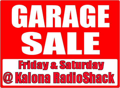 RadioShack Garage Sale