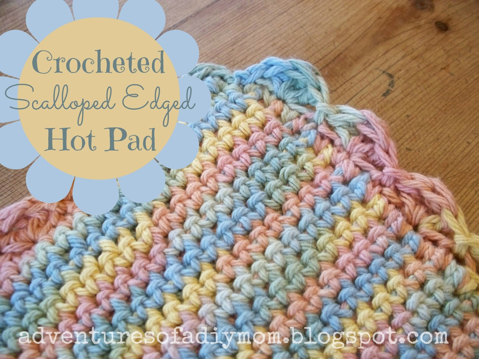 Crochet Patterns Hot Pads : crocheted scalloped edged hot pad crocheted winter hat crocheted ...