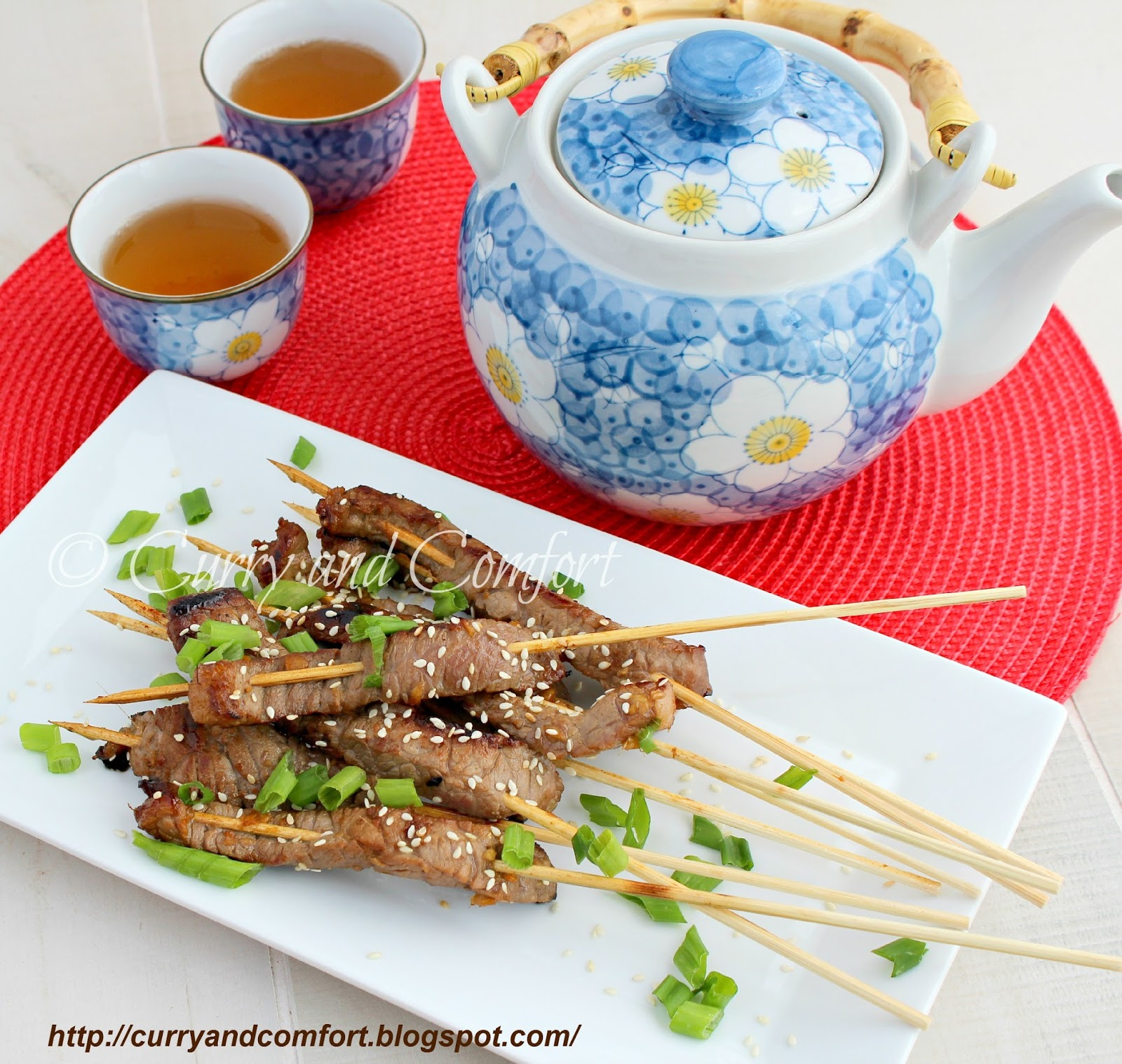 Curry and Comfort: Sesame Orange Beef Skewers