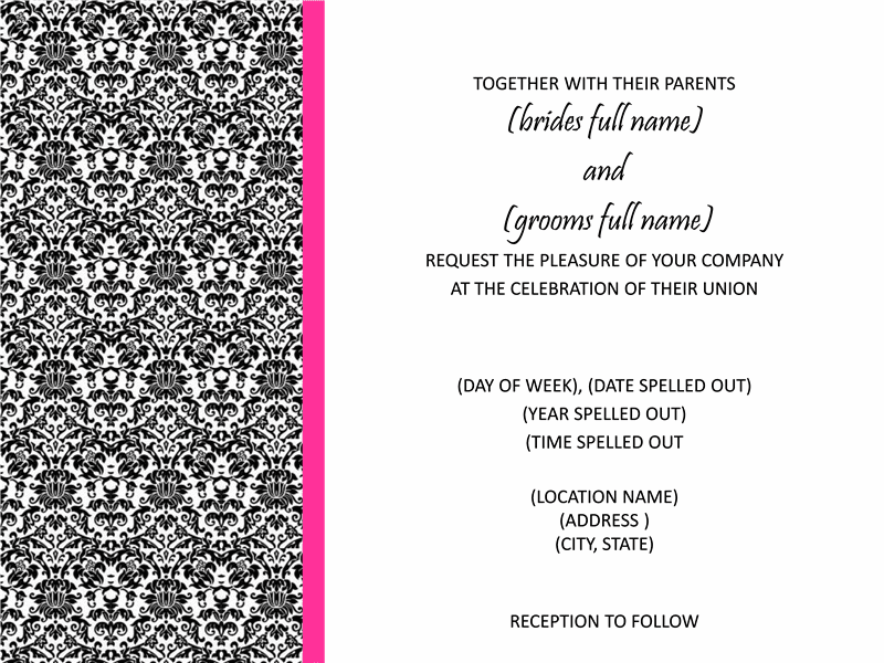 Bridal Shower Invitations Microsoft Bridal Shower Invitation – Bridal Shower Invitation Templates for Word