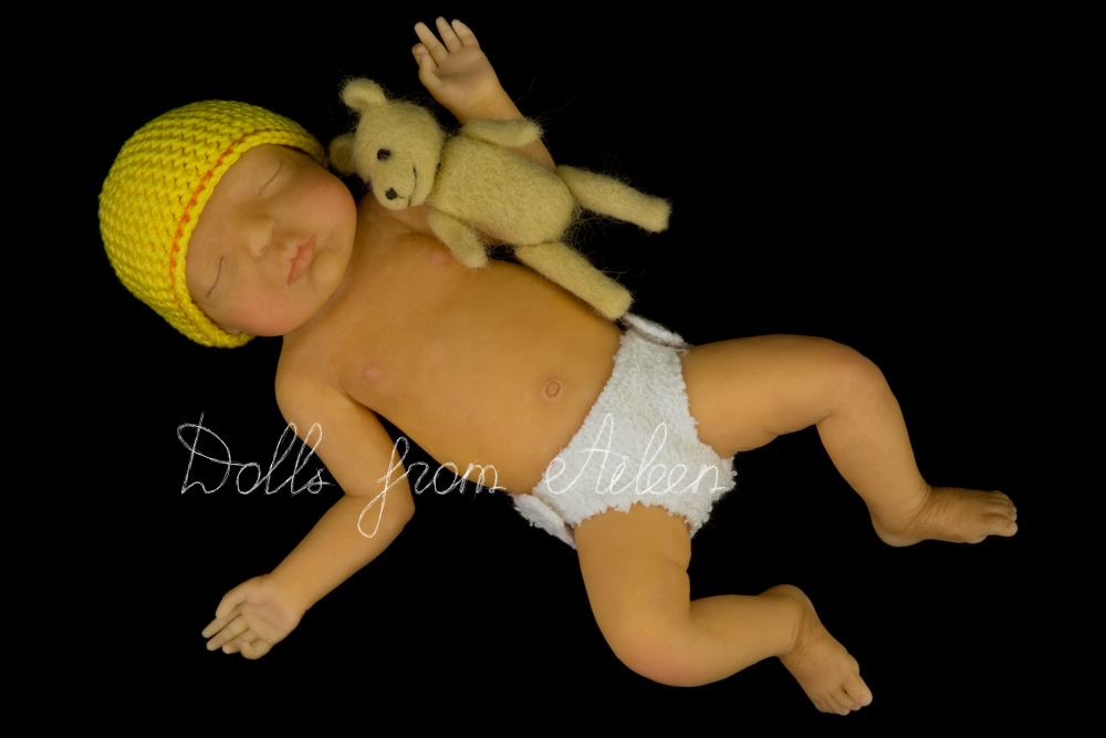 ooak hand sculpted mini baby doll