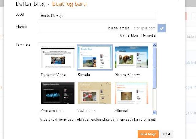 Cara Mebuat Blog 4
