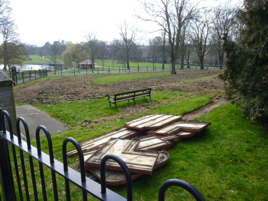 The Minigolf and Crazy Golf courses in Wardown Park, Luton on the 25 March 2015