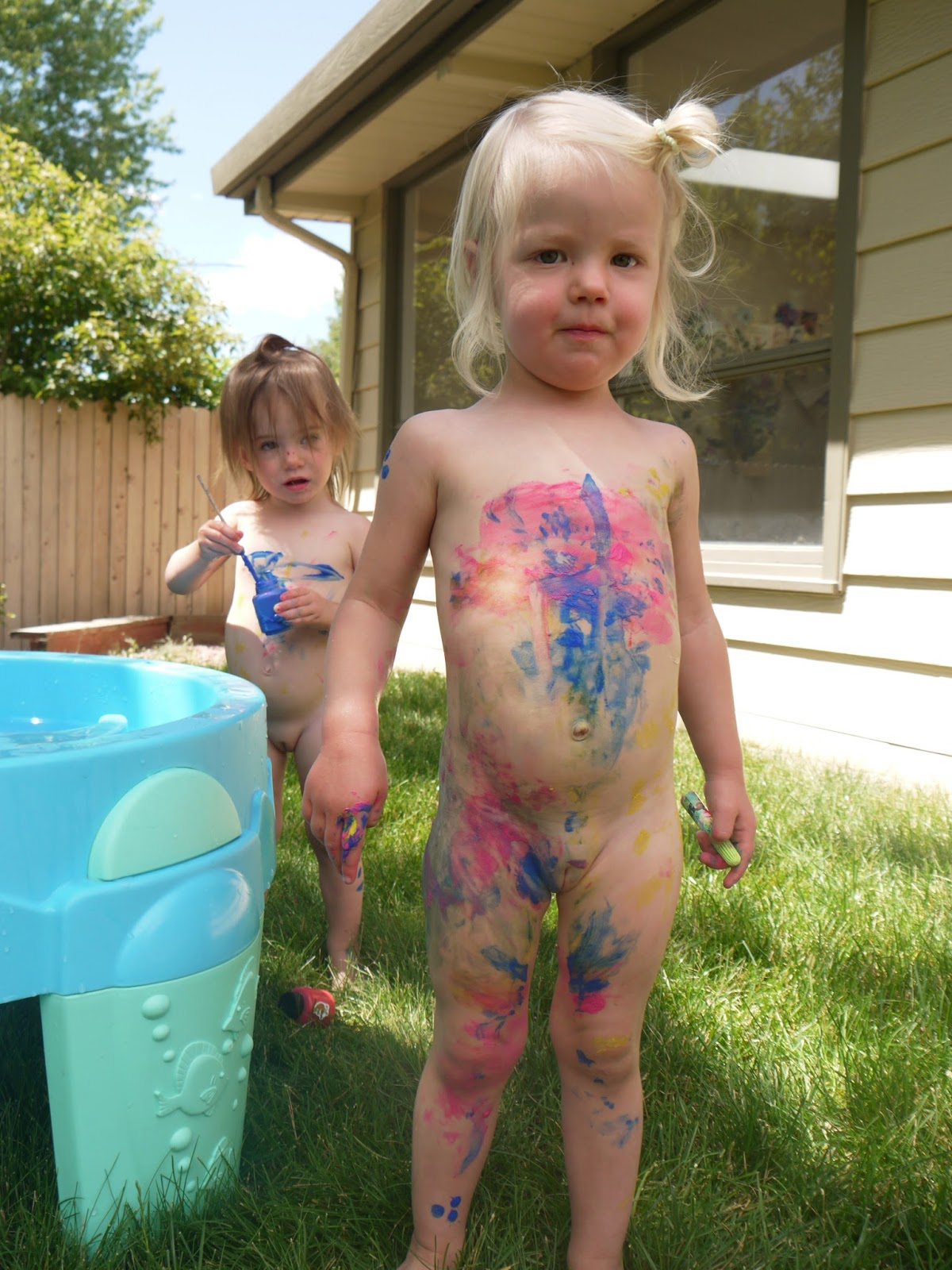 naked little girls with body paint