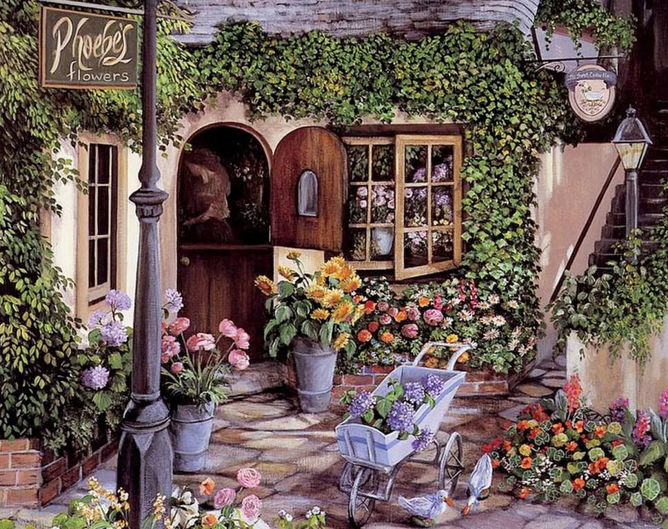 Im genes arte pinturas paisajes de jardines - Oleos de jardines ...