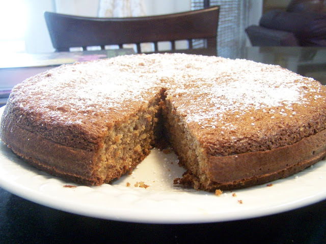 Gluten Free French Honey Almond Cake, lower in carbs