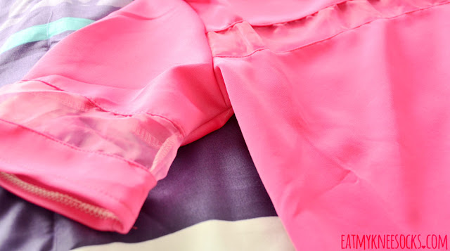CrossWalk's hot pink mesh-paneled short-sleeve T-shirt features a Korean-style boxy silhouette and simple, casual look.