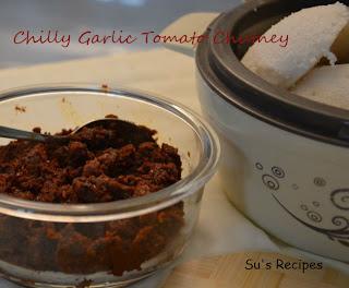 Chilly Garlic Tomato Chutney