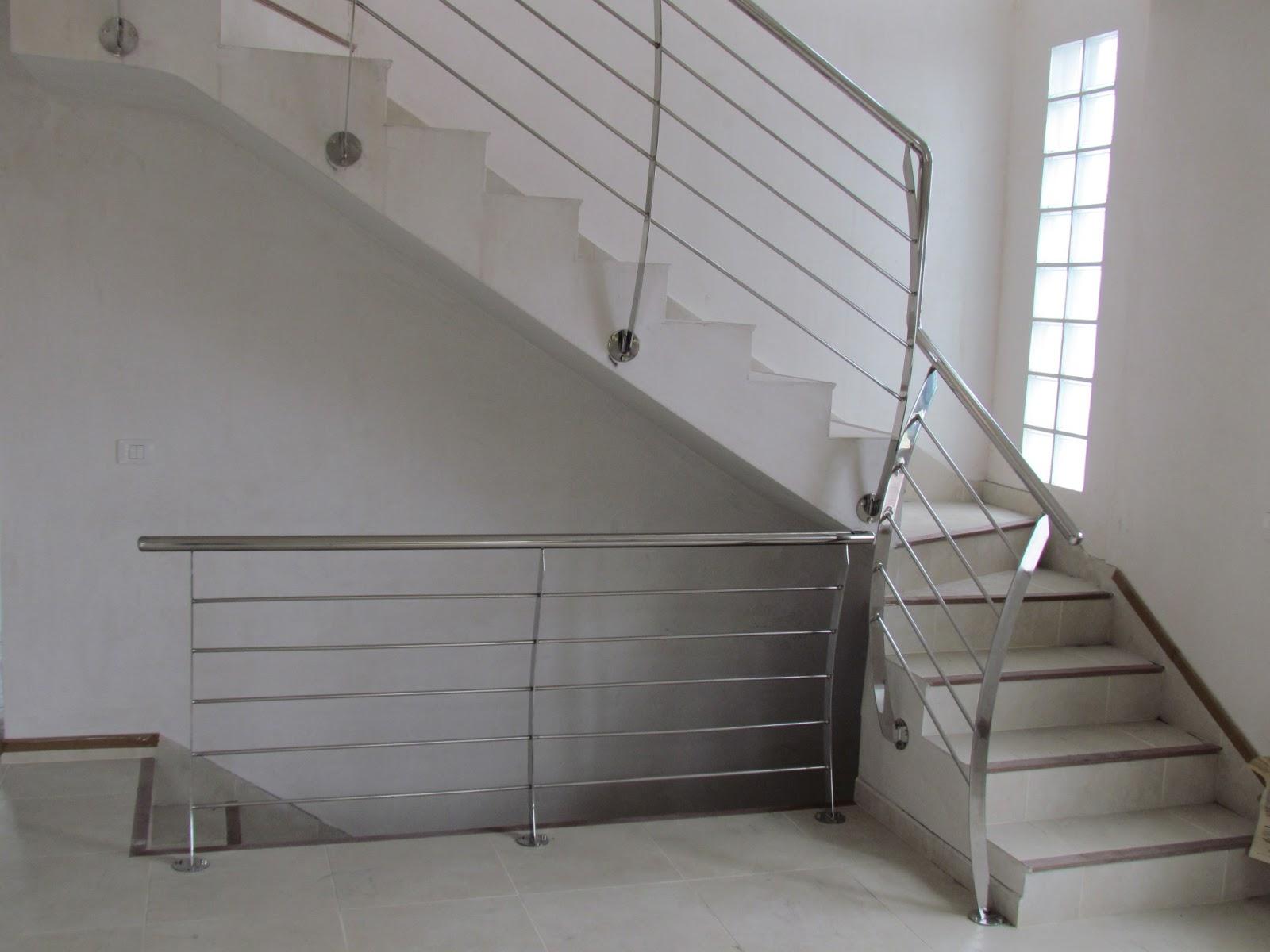 Acero inoxidable tenerife 7 modelos de barandilla acero inoxidable modernas - Barandillas para escaleras interiores modernas ...