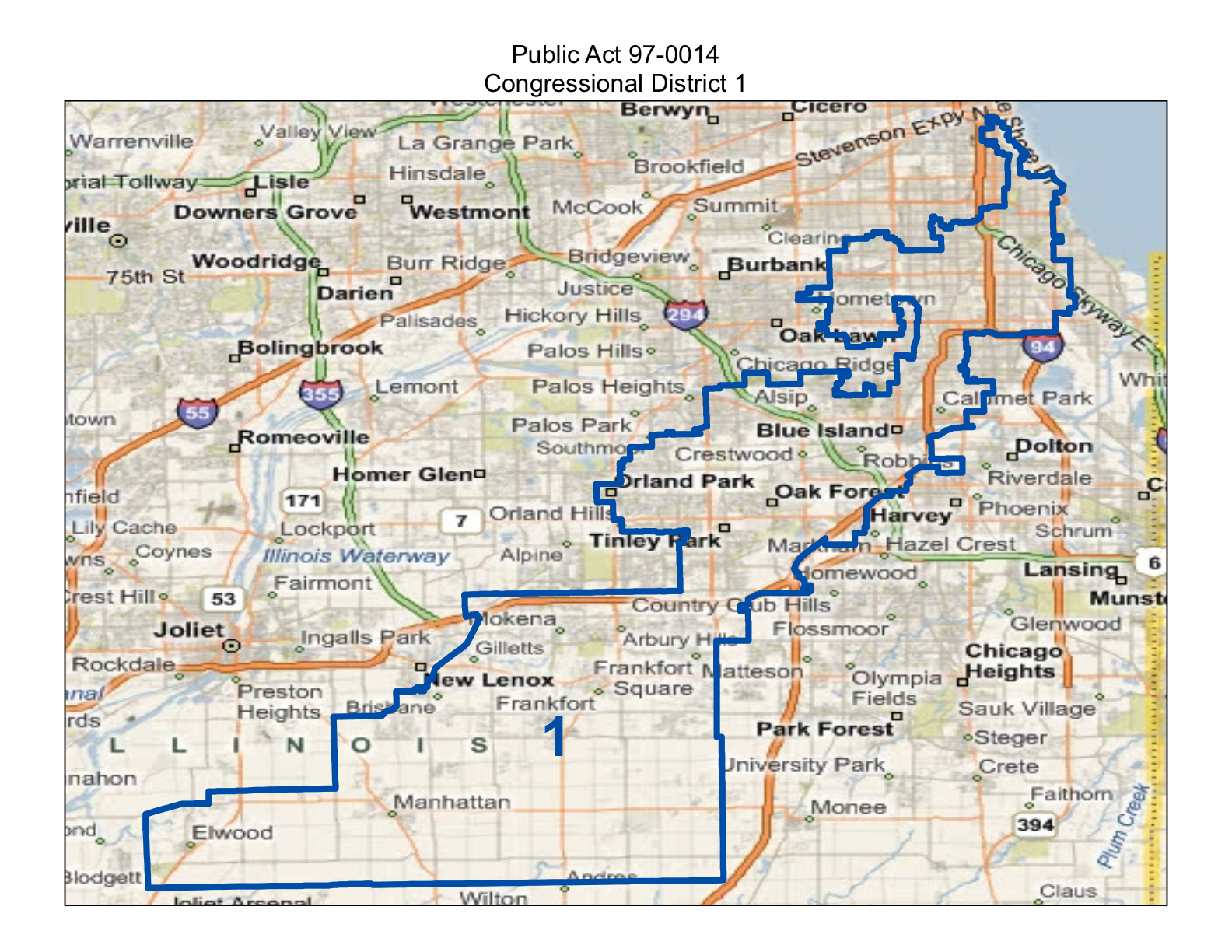 Illinois will county manhattan - Illinois First Congressional District