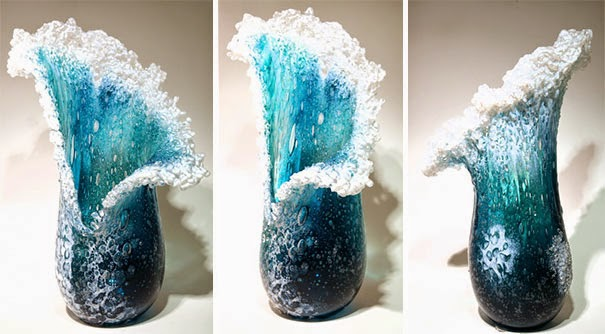 ocean waves glass art husband wife duo-3